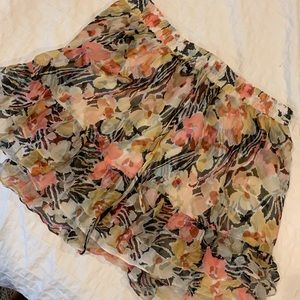NWT Elizabeth and James floral skirt with lining